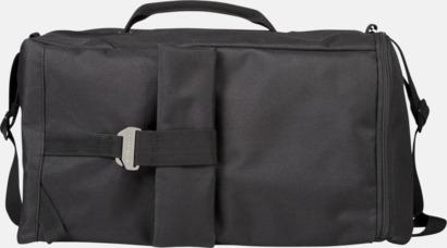 Svart Stor ryggsäck & resväska med reklamtryck
