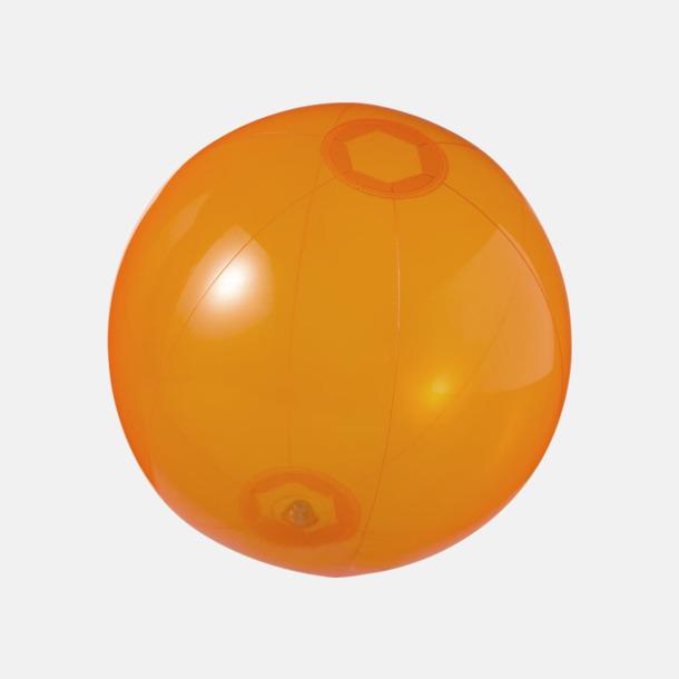 Orange (transparent) Badbollar i solida och transparenta färger med reklamtryck