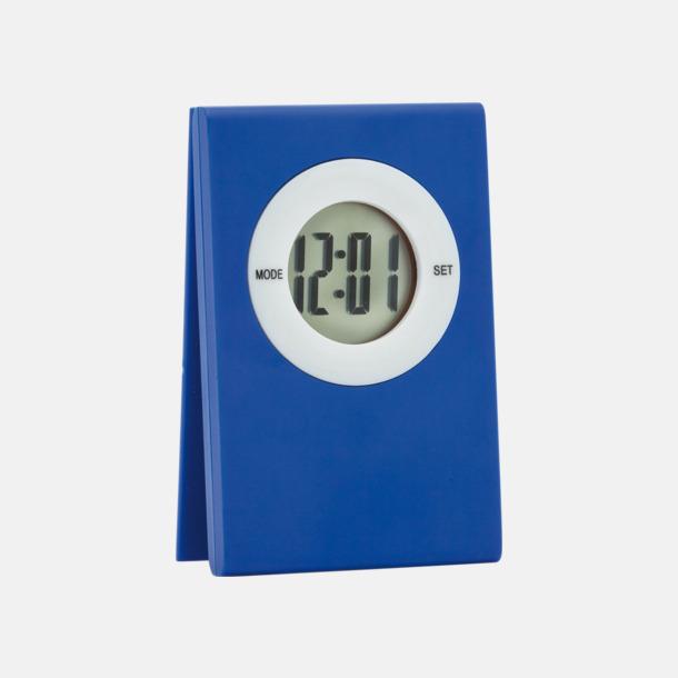 Blå Klocka och memohållare med reklamtryck