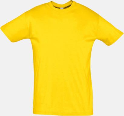 Gold Billiga herr t-shirts i rmånga färger med reklamtryck