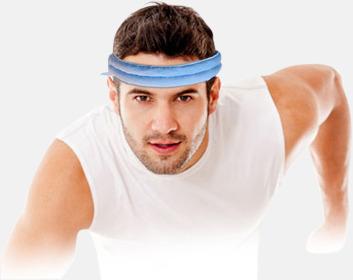 En scarf som ger svalka - med reklamtryck