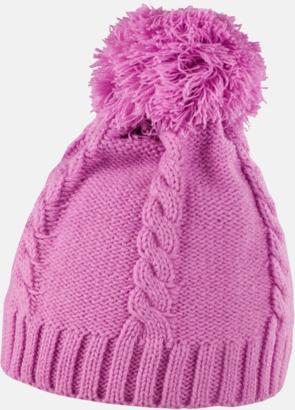 Shocking Pink Toppluvor med grovstickade ränder - med reklambrodyr