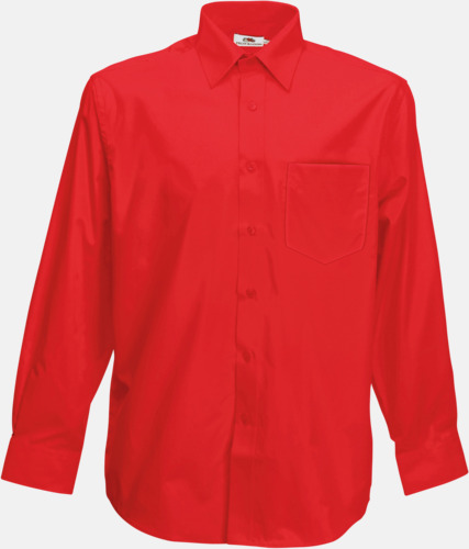 Röd Long Sleeve Poplin Shirt