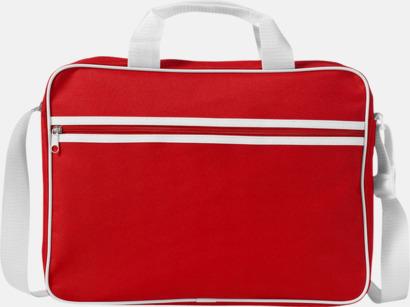 Röd / Vit Vadderade laptopväskor i retrodesign - med tryck