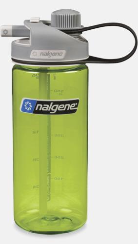 Grön Vattenflaska med multidinklock