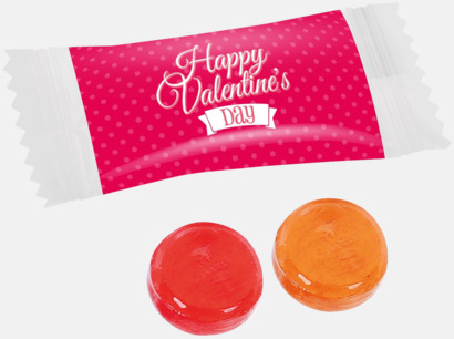 Alla hjärtans dag-version Billiga karameller med reklamtryck