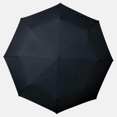 Svart Kompakt Paraplyer - Med tryck