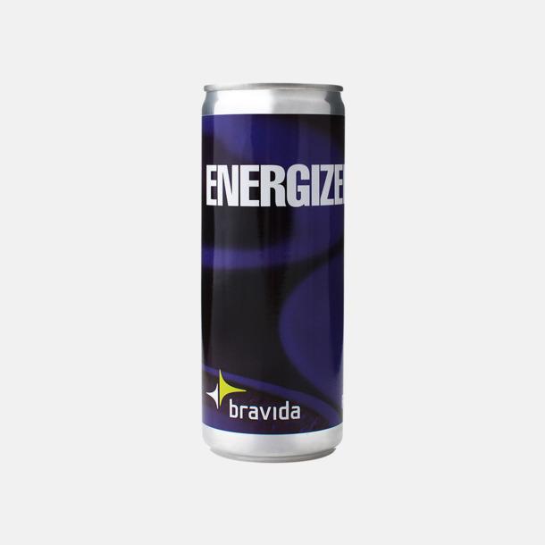 Etikett ingår Energidryck på burk med eget tryck