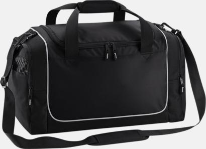 Svart/Ljusgrå Kompakta träningsväskor med reklamtryck