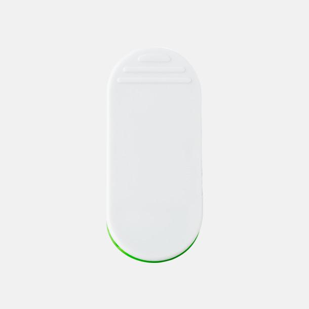 Ljusgrön (baksida) Öppnare med klämma och magnet - med reklamtryck