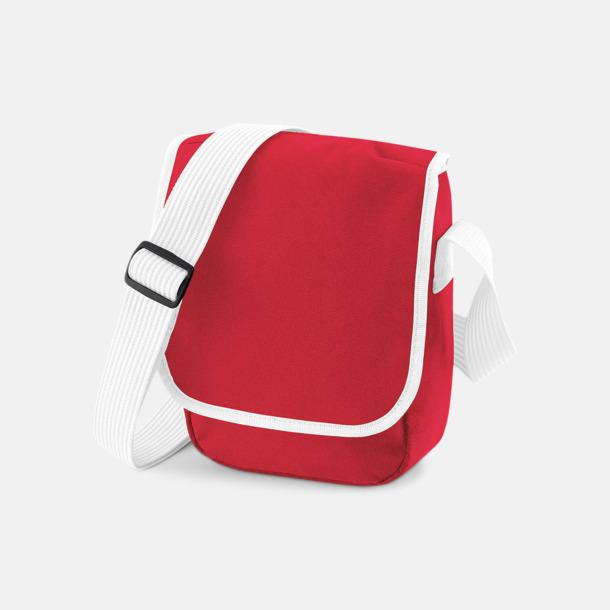 Classic Red/Vit Liten väska med eget reklamtryck