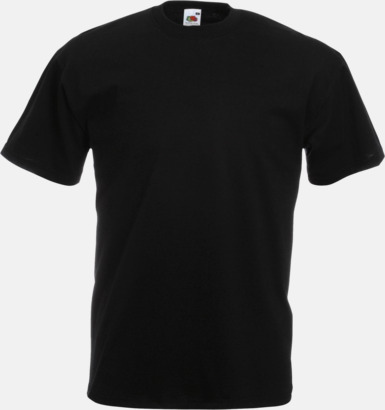 Svart Valueweight t-shirt med tryck