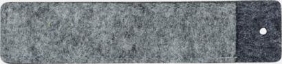 Pennfodral i filt med reklamtryck