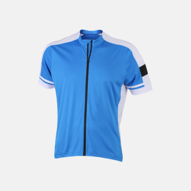 Cobalt (herr) Herr- och damcykeltröjor med hel dragkedja - med reklamtryck
