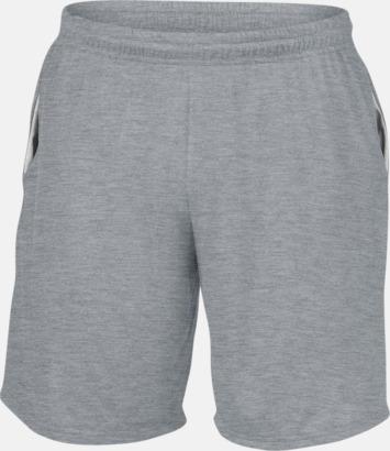 Sport Grey (heather) Herrshorts med reklamtryck