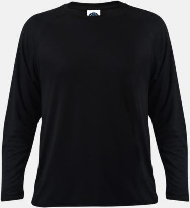 Svart Långärmade funktionströjor med reklamtryck