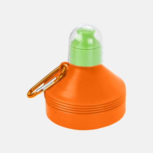 Orange Hopfällbara 60 cl vattenflaskor med reklamtryck