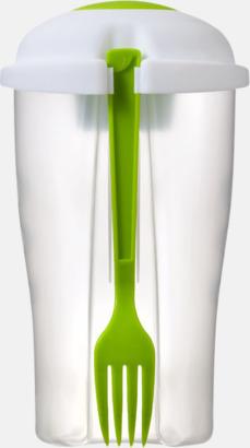 Limegrön Salladshaker med gaffel - med tryck