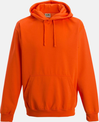 Electric Orange Huvtröjor i neonfärger med reklamtryck
