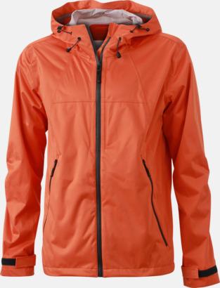 Dark Orange/Iron Grey (herr) Trekkingjackor i herr- & dammodell med reklamtryck