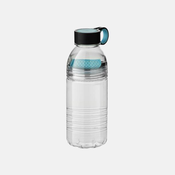 Ljusblå Vattenflaskor med fruktsilar - med reklamtryck