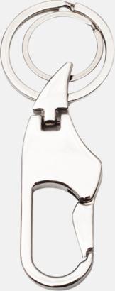 Silver Nyckelring och karbinhake i ett - med egen lasergravyr