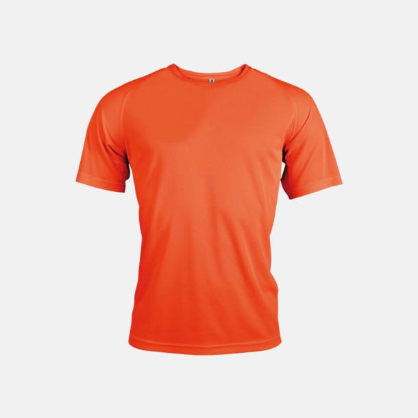 Floucerande Orange Sport t-shirts i många färger för herrar - med reklamtryck