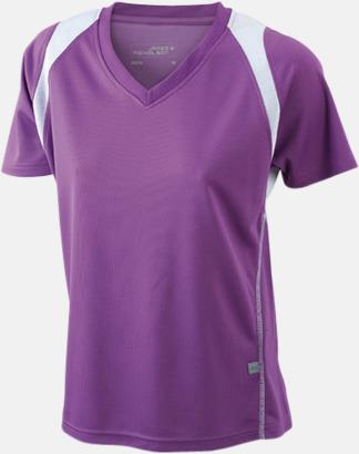 Purple/Vit Flerfärgade funktionströjor med eget tryck