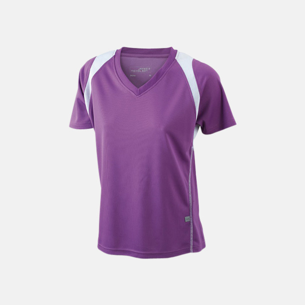 Lila/Vit Flerfärgade funktionströjor med eget tryck