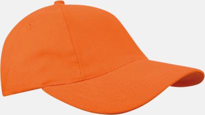 Orange Sportiga kepsar med brodyr eller tryck