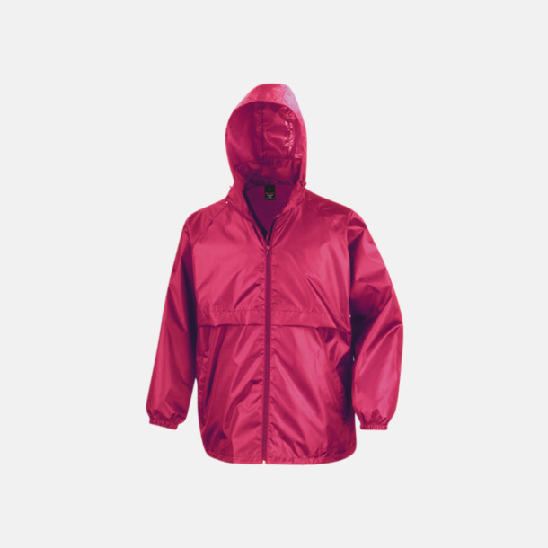 Hot Pink Vindtäta jackor med reklamtryck