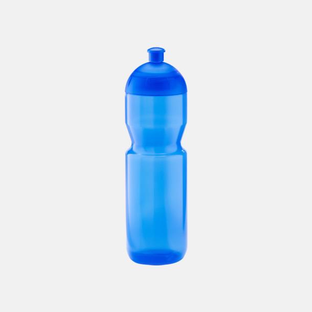 Transparent blå (750 ml) Bulb-vattenflaskor i 4 storlekar med digitaltryck