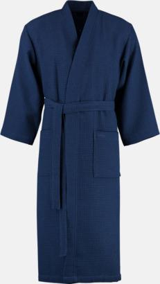 Marinblå Morgonrockar i lättviktsmaterial med reklambrodyr