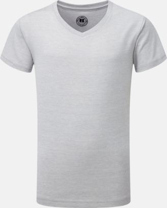 Silver Marl (v-neck pojke) Barn t-shirts i u- och v-hals med reklamtryck
