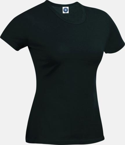 Svart (dam) Funktions t-shirts i herr- & dammodell med reklamtryck
