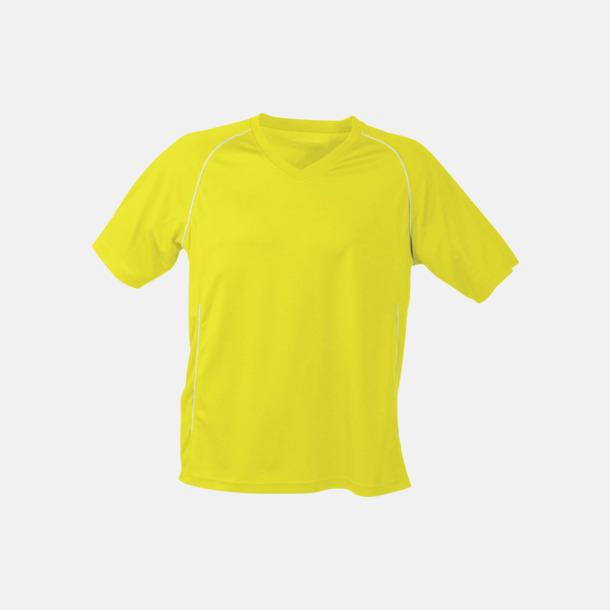 Gul T-shirt i funktionsmaterial