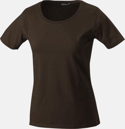 Brun T-shirtar av kvalitetsbomull med eget tryck