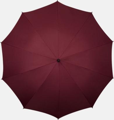 Vinröd Stora golfparaplyer med eget tryck
