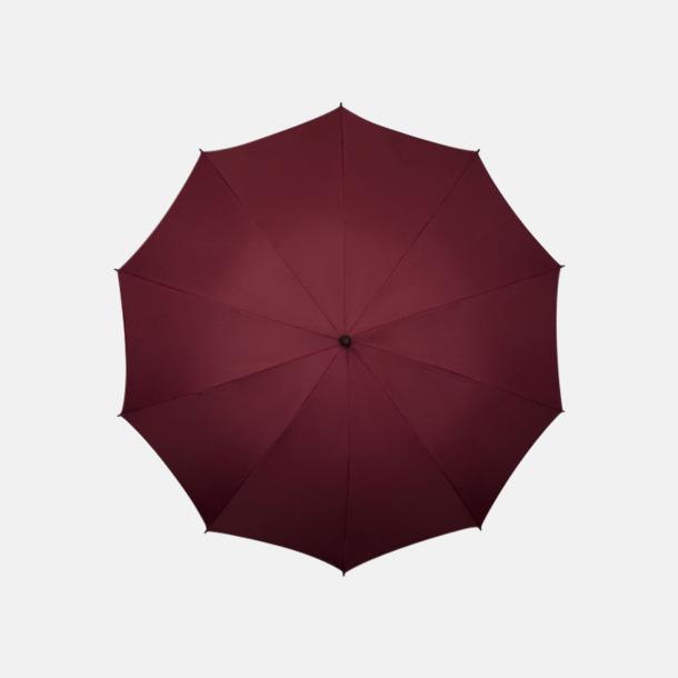 Vinröd (PMS 504C) Stora golfparaplyer med eget reklamtryck