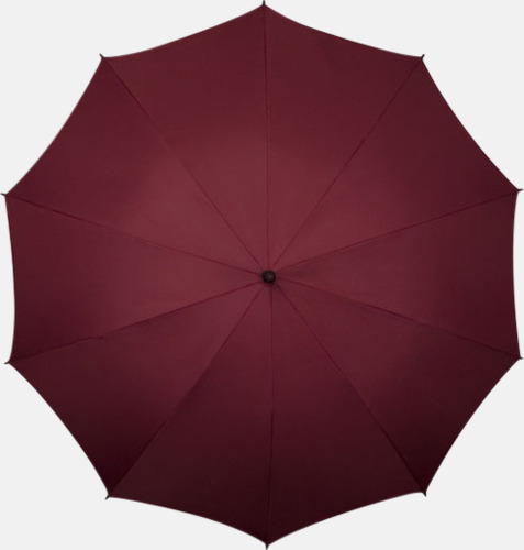 Vinröd (PMS 504C) Stora golfparaplyer med eget tryck