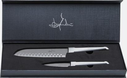 Silver / Svart Japansk kock- och skalkniv i set från Selected by Mannerström