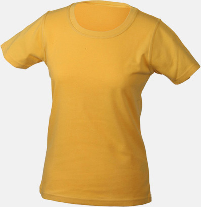 Gold Yellow Träningskläder Dam med reklamtryck