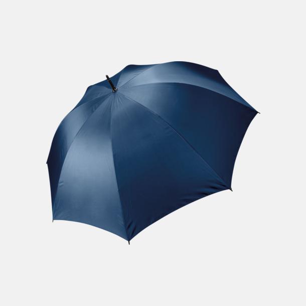 Marinblå Stormsäkra, 2-färgade paraplyer med reklamtryck