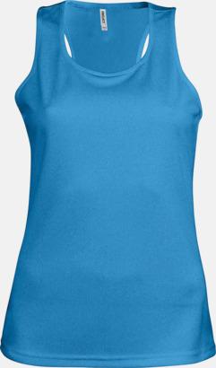 Aqua Blue Linnen av funktionsmaterial med reklamtryck
