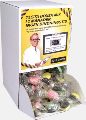 Godisautomat med etikett (se tillval) Expresskarameller med reklamtryck