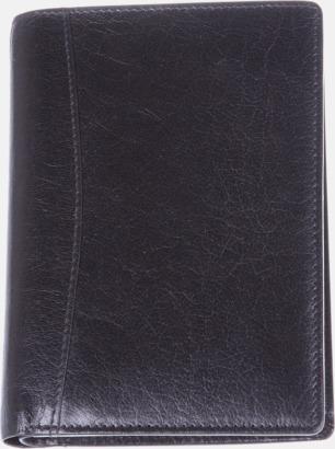 Svart Läderplånbok av hög kvalitet med prägling