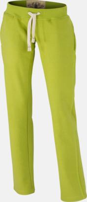 Limegrön (dam) Färgglada mjukisbyxor i herr- och dammodell med reklamtryck