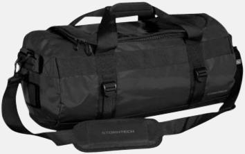 Svart 35 liters-väskor med reklamtryck