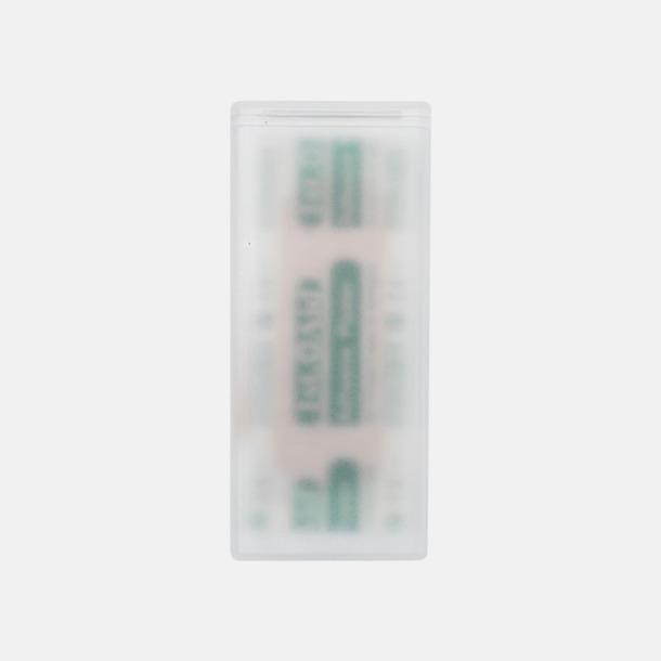 Vit (transparent) Billiga plasterpack med reklamtryck