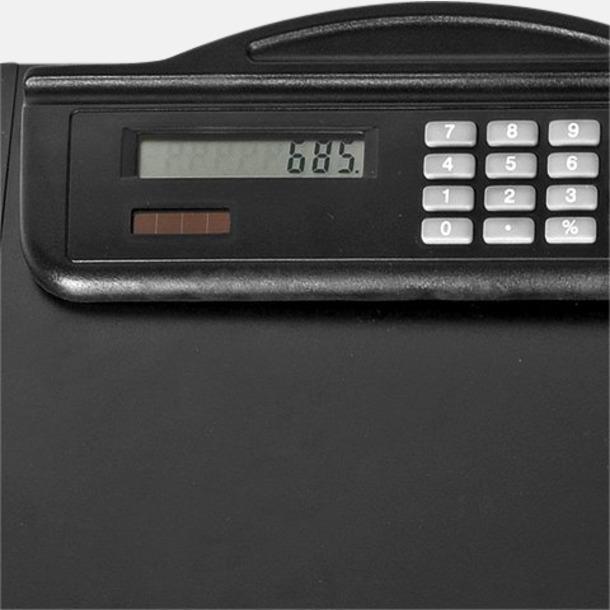 Tunn skrivplatta med miniräknare - med reklamtryck